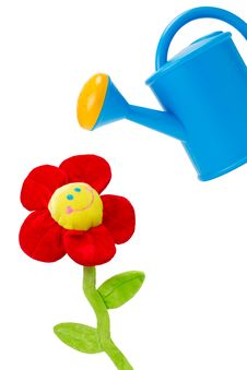 Free Watering Can And Flower Royalty Free Stock Photography - 20735157