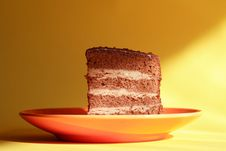 Free Cake On Saucer Stock Image - 20735221