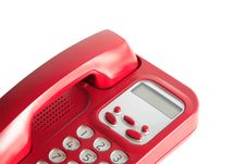 Free Red Telephone On White Royalty Free Stock Photography - 20735227