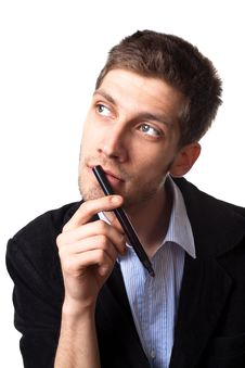 Free Man Thinking About A Solution 3 Stock Image - 20735901