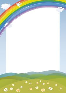 Free Rainbow Card Royalty Free Stock Image - 20736516