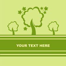 Free Cute Autumn Trees Card Royalty Free Stock Photos - 20737228