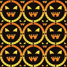 Free Scary Halloween Pattern Royalty Free Stock Photo - 20737235