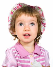 Free Cute Little Girl Close-up Royalty Free Stock Photos - 20737708