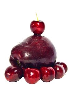 Free Red Cherry And Apple Stock Photos - 20737843