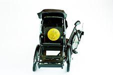 Becak, Rickshaw, Pedicab Isolated Royalty Free Stock Image