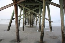 Under Pier Stock Photo