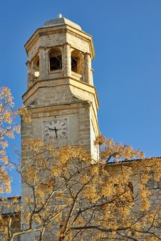 Free Mediterranean Clock Tower Royalty Free Stock Photos - 20738618
