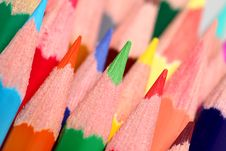 Free Close Up View On Colored Pencils Royalty Free Stock Photos - 20738828