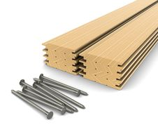 Free Lumber And Nails - Material For Construction Stock Photos - 20739723
