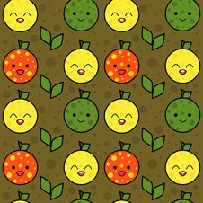 Free Cute Fruits Background Royalty Free Stock Photos - 20739958