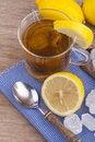Free Glass With Fresh Hot Lemon Tea Stock Photo - 20740180