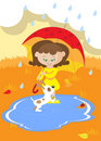Free Girl With Umbrella Royalty Free Stock Photography - 20742777