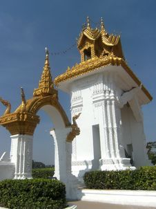 Free That Luang Temple Gate. Stock Images - 20740014