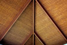 Free Ceilings Are Made Of Rattan Mats. Stock Image - 20740091