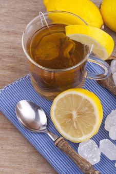 Free Glass With Fresh Hot Lemon Tea Stock Photo - 20740180