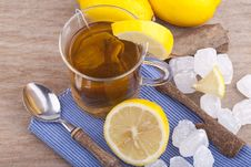 Free Glass With Fresh Hot Lemon Tea Stock Images - 20740214