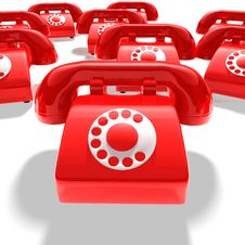 Free Red Phone Group Stock Images - 20740344