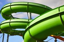 Free Pipes In Aquapark Stock Photos - 20740743