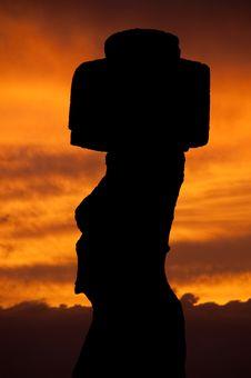 Sunset In Rapa Nui Royalty Free Stock Image