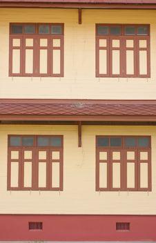 THAI OLD-STYLE WINDOWS,texture Royalty Free Stock Photos