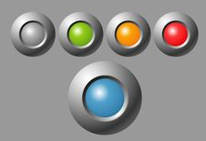 Free Indicator Button Royalty Free Stock Photography - 20741937