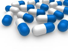 Free 3d Pill Blue White Royalty Free Stock Photo - 20742595