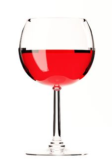 Free Glass Of Red Wine On White Royalty Free Stock Photography - 20742657