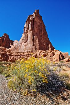Rock Formations In The Arches National Park, UT Royalty Free Stock Photography