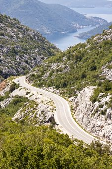 Free Aerial View On Route To Risan. Montenegro Royalty Free Stock Image - 20742726