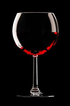 Free Glass Of Red Wine On Black Royalty Free Stock Photos - 20742938