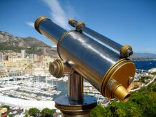 Free Old Telescope In Monaco Royalty Free Stock Images - 20743119