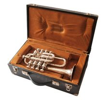 Free Trumpet In Suitcase Royalty Free Stock Image - 20743676