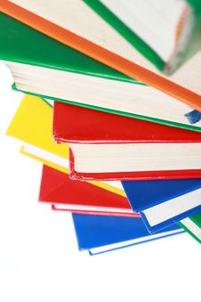 Pile Of Many Colorful Books