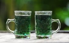 Free Glass With Green Water Royalty Free Stock Images - 20745379