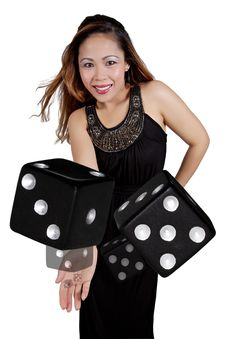 Tossing Dice Stock Photography