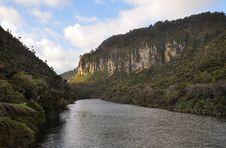 Pororari River, Punakaiki, New Zealand Stock Photo