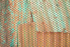 Rope Wire Metal Sheet Royalty Free Stock Photography