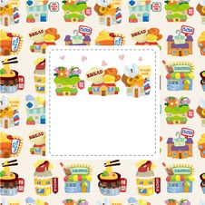 Free Cartoon Shop Building Seamless Pattern Stock Photo - 20747750