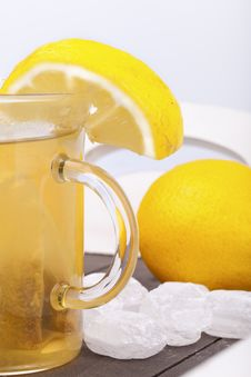 Free Glass With Hot Lemon Tea Stock Image - 20748421