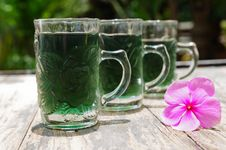 Green Water In The Glass Royalty Free Stock Photography
