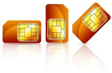 Free Orange Sim Card Stock Photos - 20749123