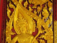 Free Traditional Thai Style Carving Stock Photography - 20749302