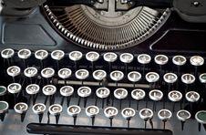 Free Old Typewriter Royalty Free Stock Photo - 20749615