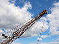 Free Silhouette Of A Crane Boom. Stock Photography - 20750342