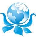 Free Blue Ecology Logo 1 Royalty Free Stock Photos - 20750988