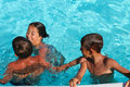 Free Children In The Pool Royalty Free Stock Images - 20755329