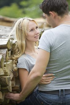 Free Young Couple In Countryside Stock Images - 20750724