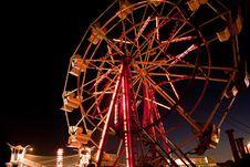 Ferris Wheel @ Dusk Stock Images