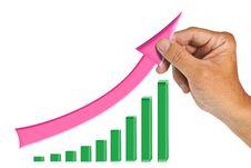 Hand Raise Arrow Stock Image